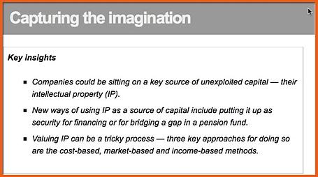Capital Insights on IP Value