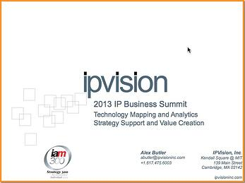 Technology Mapping & Corporate Strategy - IP Business Summit
